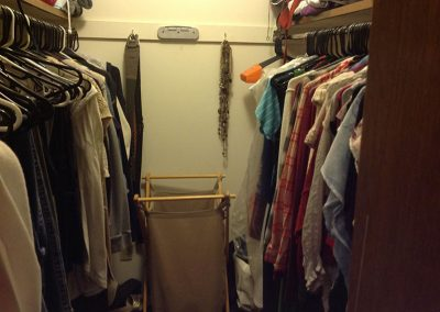 Before - What do we want? More closet! When do we want it? Now!